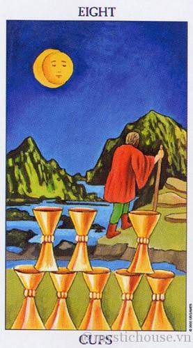 cảm nhận lá bài tarot eight of cups