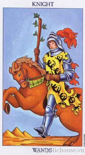 cảm nhận là bài tarot knight of wands