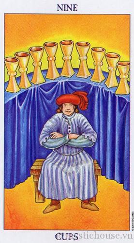 cảm nhận lá bài tarot nine of cups