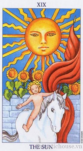 cảm nhận lá bài tarot the sun