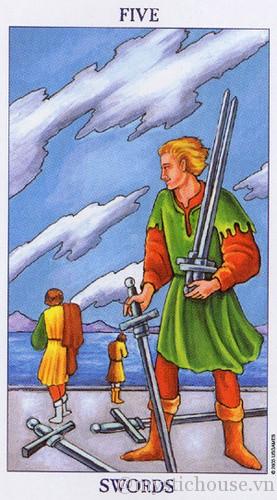 cảm nhận lá bài tarot five of swords