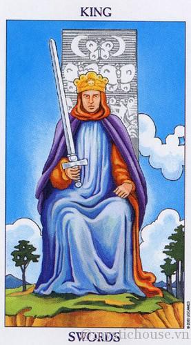cảm nhận lá bài tarot king of swords