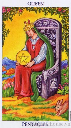 cảm nhận lá bài tarot queen of Pentacles
