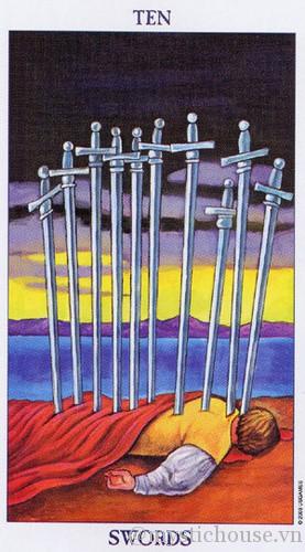 cảm nhận lá bài tarot ten of swords