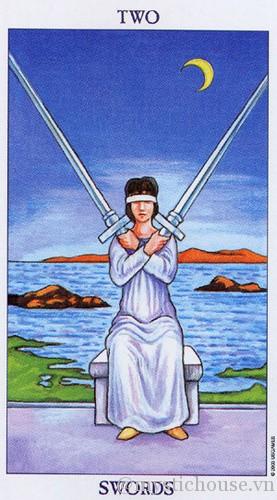 cảm nhận lá bài tarot two of swords