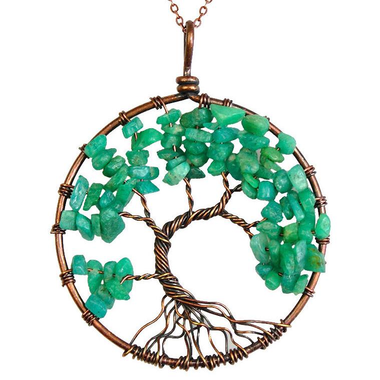 Mặt Dây Chuyền Tree of Life Amazonite 1