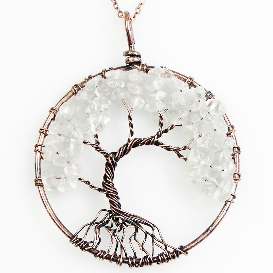 Mặt Dây Chuyền Tree of Life Clear Quartz 1