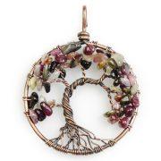 Mặt Dây Chuyền Tree of Life Tourmaline 1