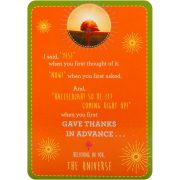 Notes from the Universe on Abundance Cards 6