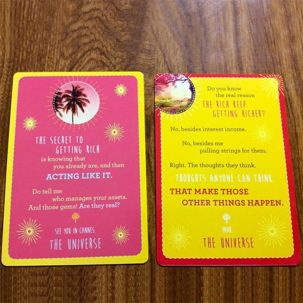 Notes from the Universe on Abundance Cards 9